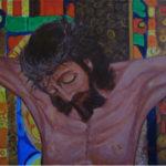 """""""Il Cristo"""", acrilico su tela gallery, cm 70x50, 2017"""