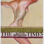 """""""The times"""", olio su cartone, passamaneria, cm 30x25, 2008   800 €"""