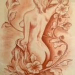 """""""Un ramo di more e...."""", sanguigna su carta, cm 50x70 600 €"""