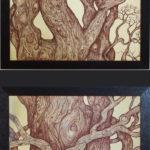 """""""Un grande albero"""", inchiostri, cm 70x200, 2016"""