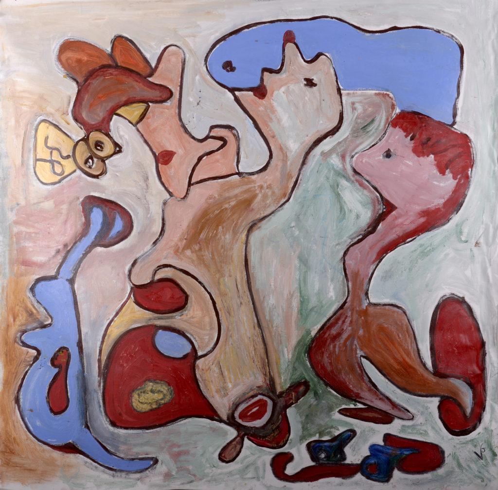 A Fiamma, olio su tela, cm 100x100, 2016 collezione privata