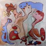 """""""A Fiamma"""", olio su tela, cm 100x100, 2016 collezione privata"""