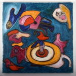 """""""Centralino"""", olio su tela, cm 80x80, 2016 collezione privata"""