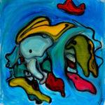 """Cotonato"", olio su tela, cm 80x80, 2016  1.200 €"