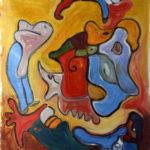"""""""Il gallo"""", olio su tela, cm 80x70, 2017  1.200 €"""