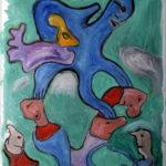 """""""La giusta distanza"""", olio su tela, cm 77x94, 2016  1.400 €"""
