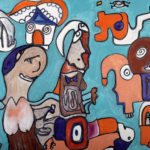 """""""La mia casa dentro"""", olio su tela, cm 50x70, 2016  1.200 €"""
