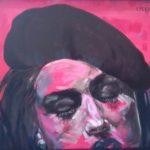 """Monique"", acrilico su tela, cm 40x50, 2016   2.000 €"