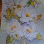 """""""Peonie e gigli"""", acquerello su carta, cm 48x34, 2015 450 €"""