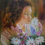"""Profumo di fiori"", olio su tela, cm 50x60 650 €"