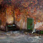 """""""Casa rurale"""", olio e malte su tela, cm 50x60, 2016 650 €"""