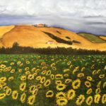 """""""Paesaggio toscano con girasoli"""", cm 60x70, 2016 650 €"""