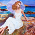 """Abbronzarsi"", olio su tela, cm 50x70, 2016 650 €"