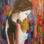 """""""Pudore"""", olio su tela, cm 60x70, 2016 700 €"""