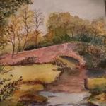 """""""Il ponte"""", acquerello su carta, cm 34x28, 2016 400  €"""