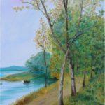 """""""Fiume in autunno"""", olio su tela, cm 50x70, 2015 600 €"""