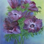 """Anemoni"", tecnica mista su tela, cm 50x60, 2014 500 €"