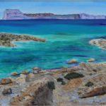 """""""Costa smeralda"""", olio e tecnica mista su tela, cm 60x30, 2011 500 €"""