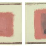 'Senza titolo', dittico, tempera e ossidi su carta, cm 25x35 (cad.), 2007
