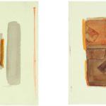 'Senza titolo', dittico, acquerello su carta, cm 25x25, 2008