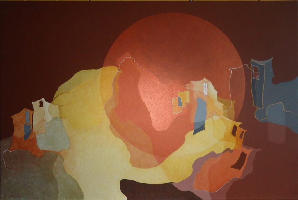 Liguria-Cinque Terre 2014, acrilicosu tela, 80x120cm