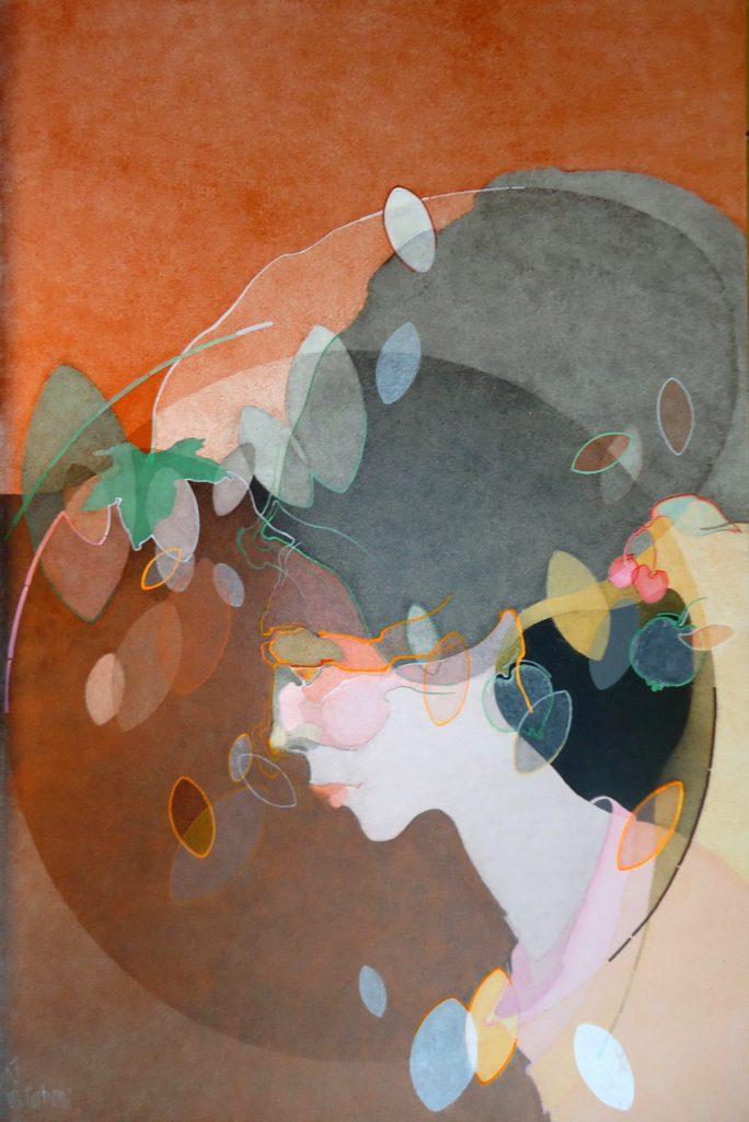 Una strana primavera 2017, acrilico su tela, 120x80cm