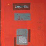 'Exquo tempore', tempera, ossidi, calce, pastelli su tela, cm 54,5x114,5, 2010