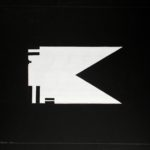 'Flag BW', acrilico su tela, cm 80x90