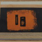 'Viaggi ellenici 1', collage, tempera su masonite, cm 30x40, 2013