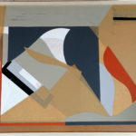 'Who is playing the piano', collage su masonite, cm 45x65,5, 2013