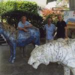 'Installazione con Pony e Tigre' a Fiuggi, Plasticone, Pony cm 200x145x100 - Tigre cm 220x90x60, 2008-2009   € 7.800 e € 9.000