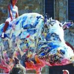 'Cinghialone a Castiglione Fiorentino', Plasticone, cm 430x220x110, 2007    € 25.000