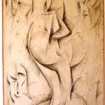 Umberto Boccioni 'Studi per scultura' disegno a penna e carboncino, 1913