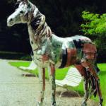 'Il Cavallo argento', Plasticone, cm 220x260, 80, 2010   € 14.500