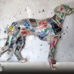 'Levriero Roma', Plasticone, cm 90x90x35, 2015   € 2.200