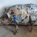 'Cinghiale emiliano', Plasticone, cm 120x80x60, 2016   € 3.200