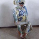 'Scimpanzè', Plasticone polimaterico, cm 90x45x75, 2000   €2.100