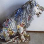 'Leone', Plasticone polimaterico, cm 130x130x70, 2001   €5.200