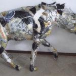'Iena voltorre', scultura polimaterica, cm 140x100x60, 2000    € 5.000