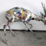 'Antilope', Plasticone polimaterico, cm 120x110x80 ca, 2001   € 2.200