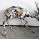 'Antilope', Plasticone polimaterico, cm 120x110x80, 2001   € 2.200