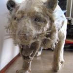 'Tigre crugnola', Plasticone scultura, cm 200x70x60, 1999   € 5.900