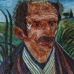 Antonio Ligabue 'Autoritratto' olio su tavola, anni cinquanta