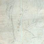 Amedeo Modigliani 'Ritratto di Jeanne Hébutherme' disegno su carta giallina, gm. 80, cm 21x30
