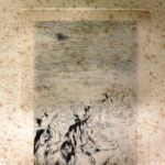 Pierre Auguste Renoir 'Sur la plage' puntasecca su carta, cm 15x25