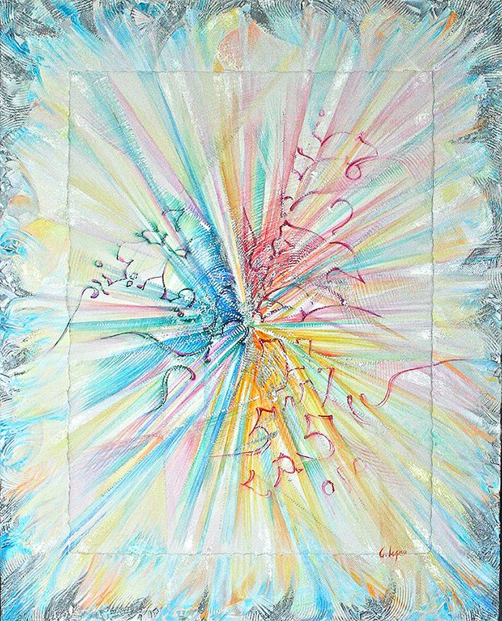 9) OMAGGIO ALLA TRIPLICE FIAMMA -2012 polimaterico su tavola 80x100