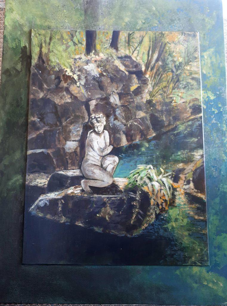 Bagno nella Reggia u.v. cm. 40 x 30 Acrilici su tela