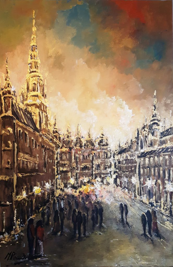 Bruxelles Central Place Col. 8 Dip. olio su tela 140x90 anno 2018