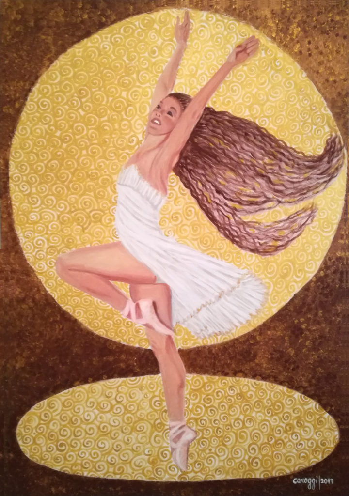La pirouette, acrilico su tela Gallery 70x100h cm, 2017