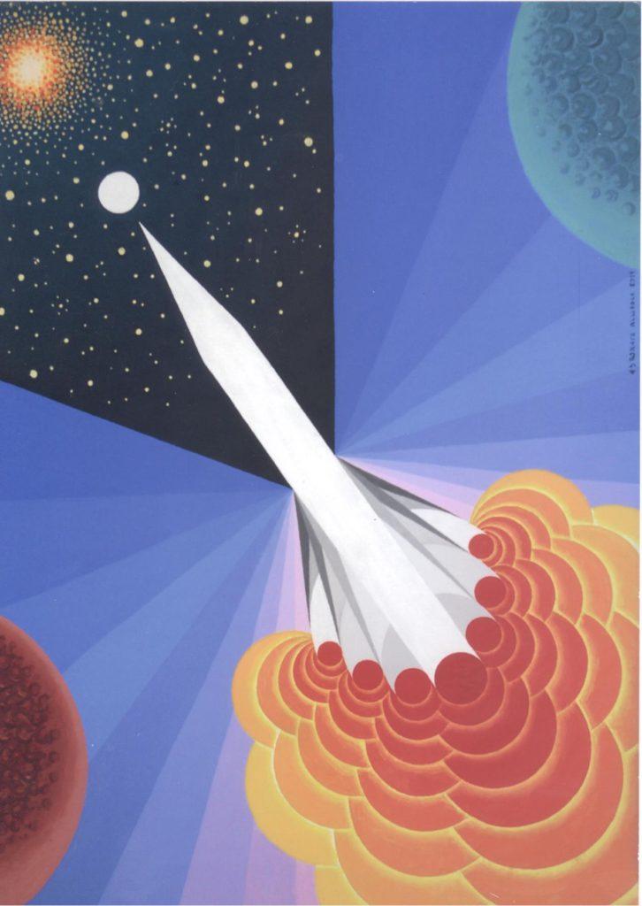 'Astronave Allodola', acrilico su tela, cm 50x70, 2011 € 4.000